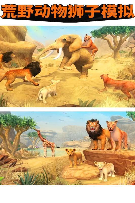 荒野动物狮子模拟截图(1)