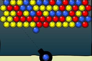 彩色钻石泡泡龙小游戏