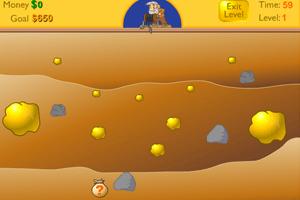 老头挖金子单人版小游戏