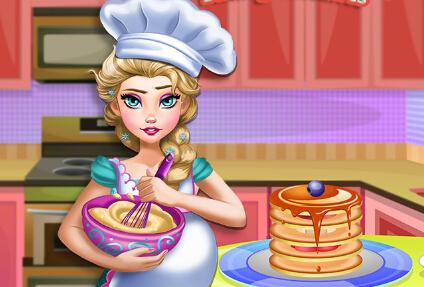 怀孕艾莎做煎饼小游戏
