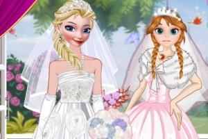 冰雪奇缘婚纱装扮小游戏
