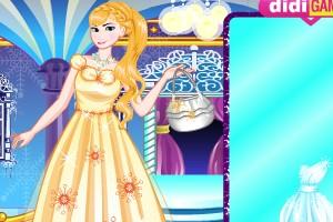 艾莎的漂亮新裙子小游戏