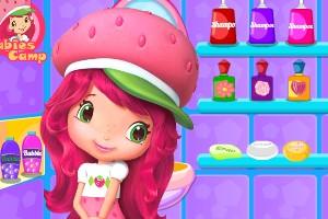 草莓公主帮宠物洗澡小游戏