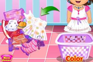 朵拉洗衣服小游戏