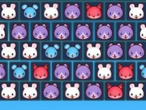 方块动物泡泡龙小游戏