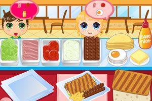 經營三明治早餐店小游戲