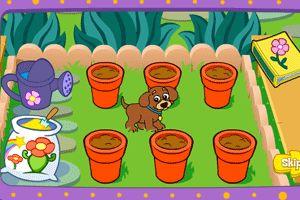 小狗种美丽鲜花小游戏