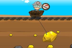 矿工采黄金小游戏