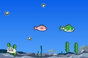 小鱼躲避球小游戏