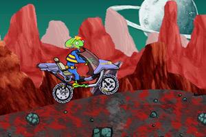 外星人复古摩托车小游戏