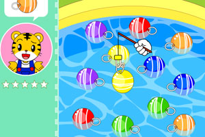 巧虎钓水球小游戏