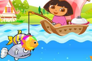朵拉爱钓鱼小游戏