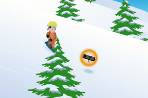 鸣人滑雪小游戏