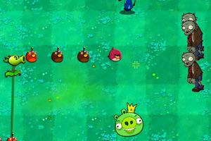 愤怒的小鸟VS僵尸3小游戏
