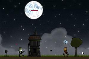 机器小人防御战小游戏