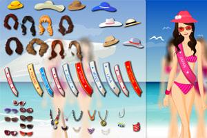 2012沙滩小姐小游戏
