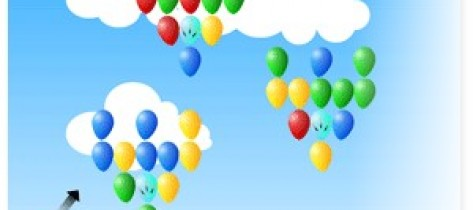 戳气球游戏