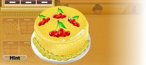 制作蛋糕游戏